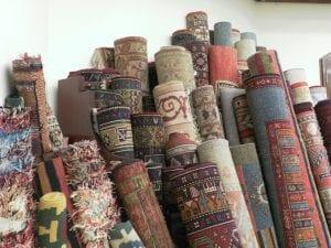 rolls of rugs